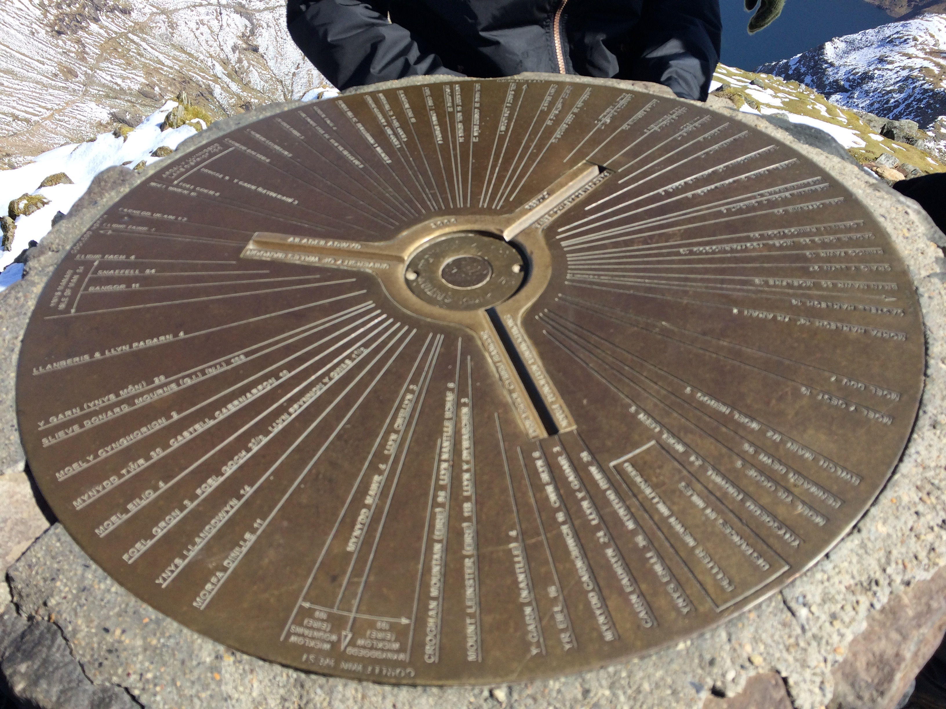 Snowdon summit trig