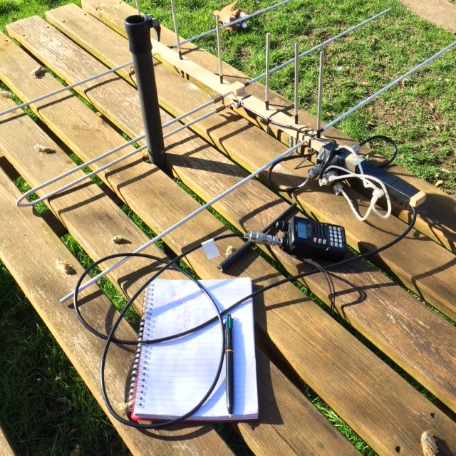 Homebrew Yagi set up