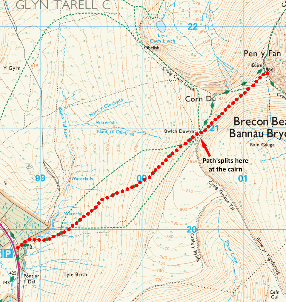 Pen y Fan route