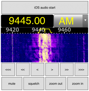 Simplified phone interface for WebSDR