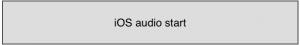 iPhone audio start button