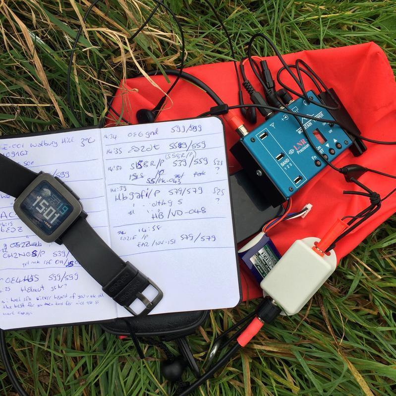Testing SOTA EFHW aerial on Walbury Hill