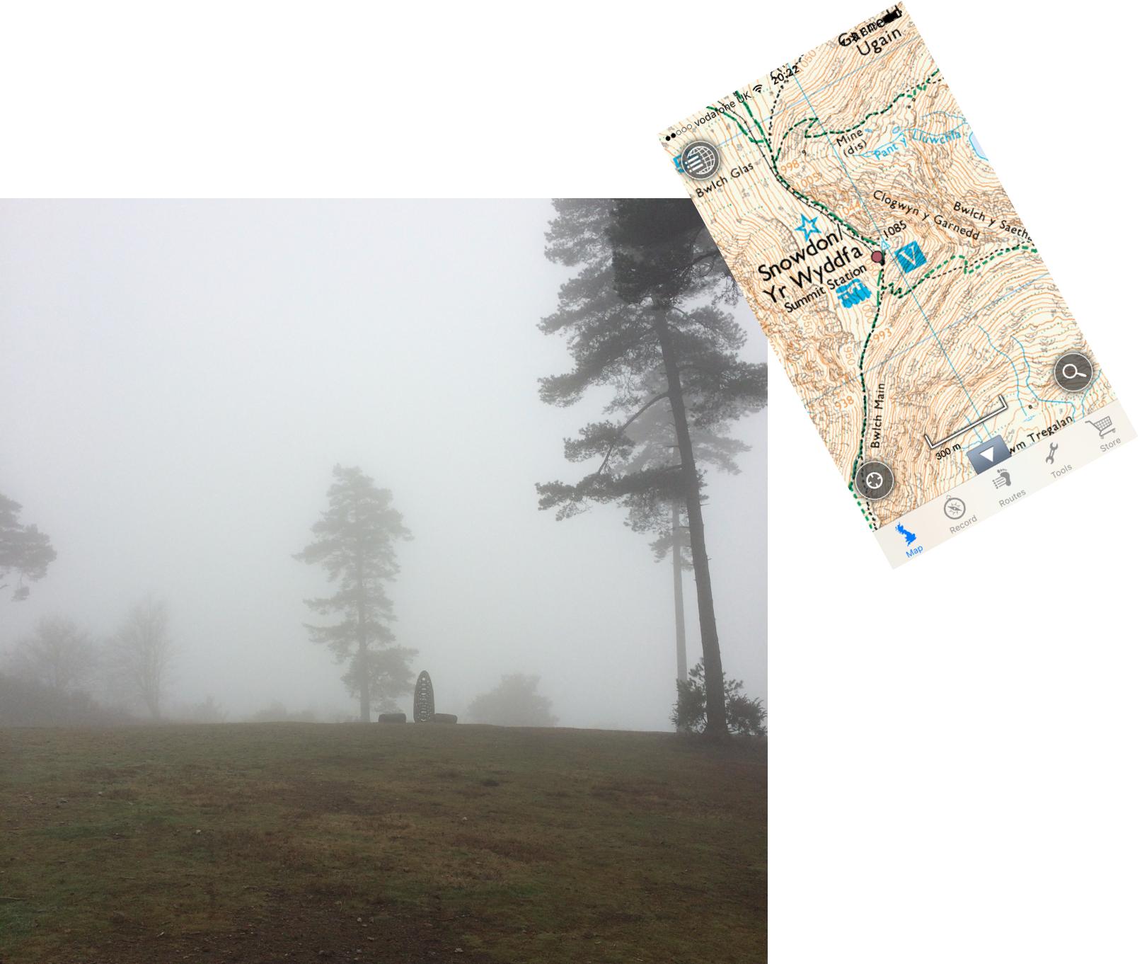 Misty summit
