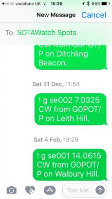 SMS spotting
