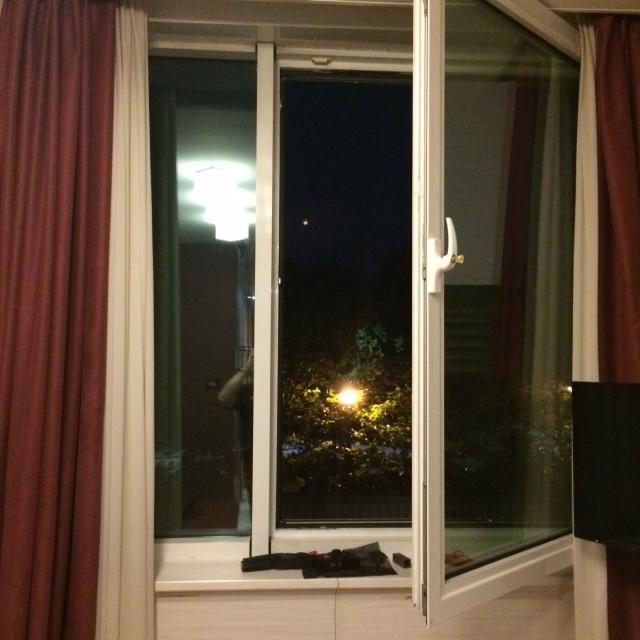 Hotel window in Italy