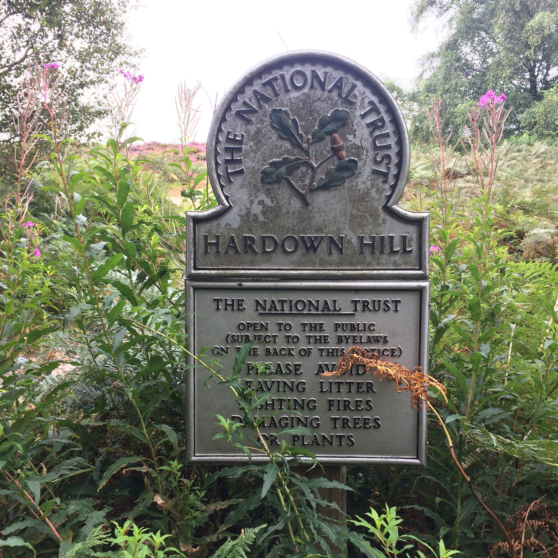 Hardown Hill sign